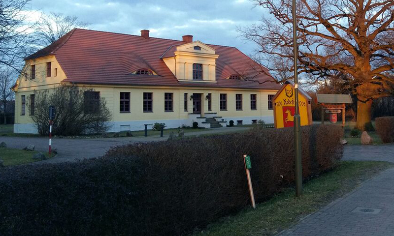 Poststation in Abendröte